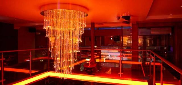 Huge fiber optic  chandelier contemporary-lighting