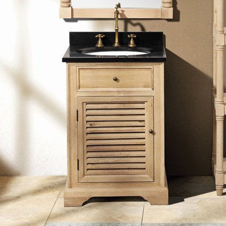 cotuit 24-in single vanity (natural oak w/ cream marble) contemporary-bathroom-vanities-and-sink-consoles