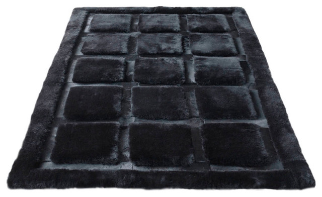 Cowhide Plaza Area Rug, 4' x 6' contemporary-rugs