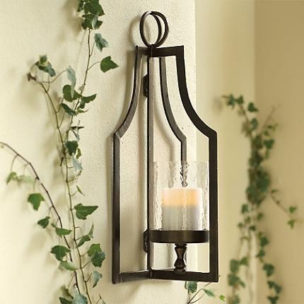 Wall Sconces Candles Lantern : Laurent Floor Lantern and Wall Sconce - Traditional - Outdoor Wall Lights And Sconces - by ...