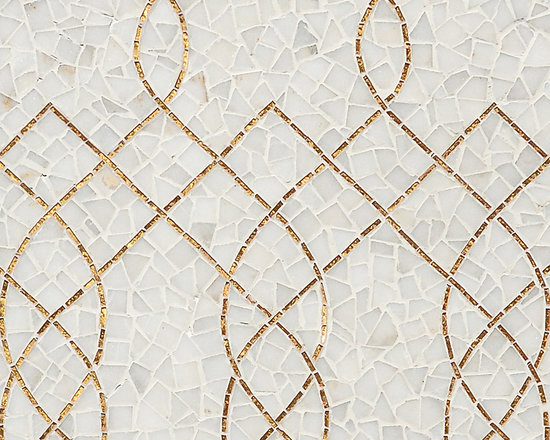 Stone Mosaic - Luc stone mosaic is at home whether in a traditional or more modern setting. Flowing lines add elegance to any floor or wall application.
