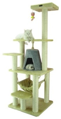 "65"" Classic Cat Tree in Beige modern-pet-supplies"