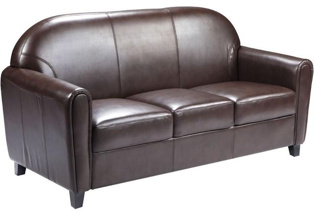 Hercules Envoy Series Brown Leather Sofa modern-sofas