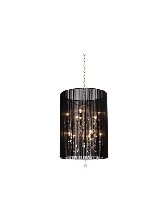 Claremont Black String 20-Inch-W Chandelier -