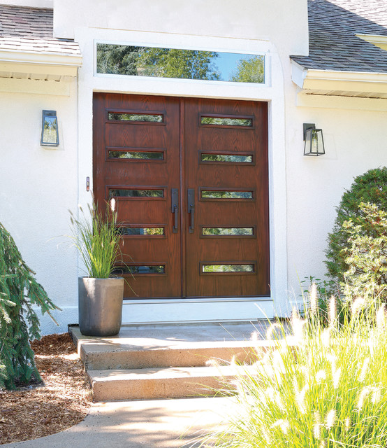 Mid-century Modern Double Doors - Contemporary - Front Doors - grand rapids - by ODL, Inc