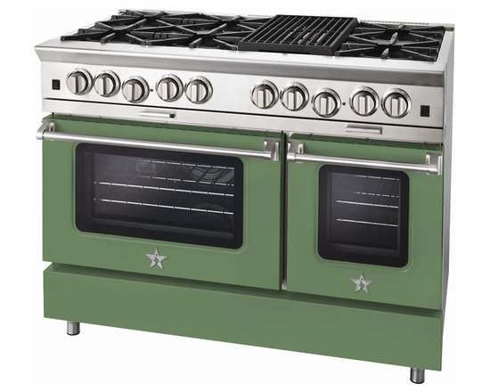 "BlueStar Platinum Series: 48"" Range - 48"" BlueStar Platinum Range in Pale Green (RAL 6021)"