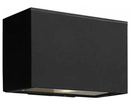 Hinkley - Hinkley Atlantis 1-Light Satin Black Outdoor Wall Light - 1646SK-GU24 - This 1-Light Outdoor Wall Light is part of the Atlantis Collection and has a Satin Black Finish. It is Outdoor Capable, and Wet Rated.
