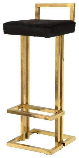 Vintage Brass Bar Stool - Contemporary - Bar Stools And ...