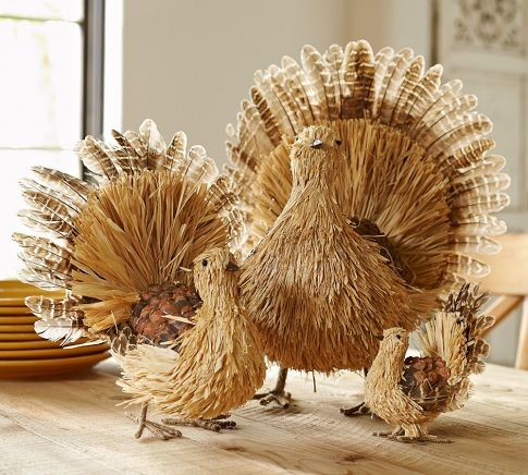 Natural Turkey Contemporary Holiday Decorations By