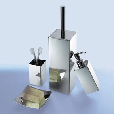 Nemesia chrome bathroom accessory set contemporary - Modern bathroom accessories sets ...
