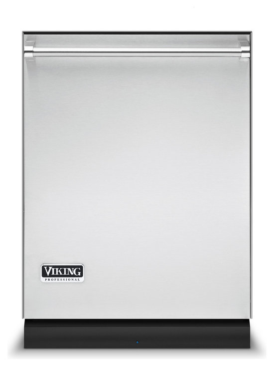 Viking Fully Integrated Dishwasher, Stainless Steel | VDB451SS - The Professional Series Intelli-Wash dishwasher makes good on its heavy-duty styling with the heavy-duty power of the largest stainless steel wash arms in the industry and the sanitizing 1,200 watt Hydro-Flo water heater. All this muscle is controlled by the brain of the Intelli-Wash system - which adjusts water pressure, temperature, and speed to each load. See FDB Custom Front model for additional color choices.