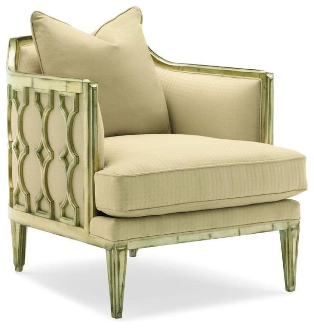Cara And Cole The Bees Knees, New Champ Finish traditional-armchairs-and-accent-chairs