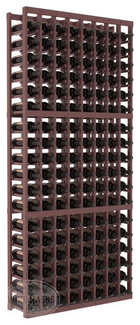 8 Column Standard Cellar Kit in Pine with Walnut Stain + Satin Finish traditional-wine-racks