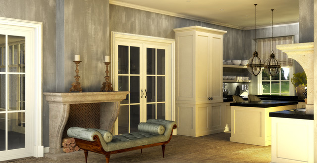 Traditional Dutch Country House Kitchen traditional-rendering