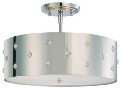 Vanity Lights With Bling : Bling Bling Semi-Flushmount by George Kovacs - Bathroom Vanity Lighting