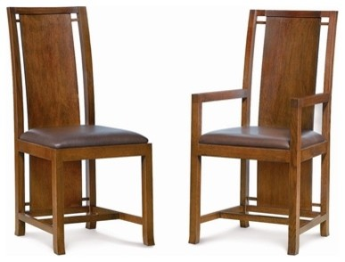 Boyton Arm Chair by Frank Lloyd Wright asian-dining-chairs