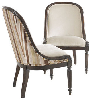 Massoud Morgan Stripe Dining Chair traditional dining chairs and benches