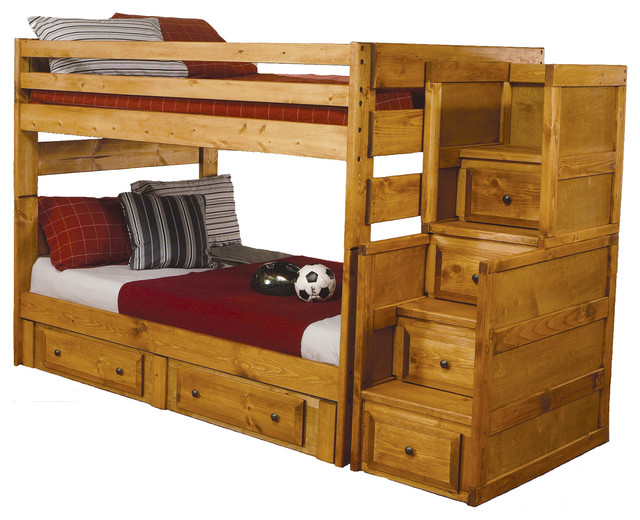 Wood Bunk Beds with Storage 640 x 520