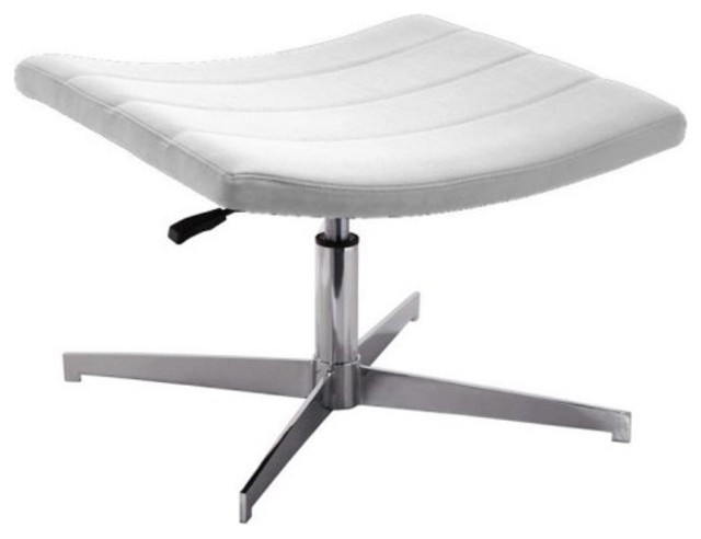 Euro Style Domino Ottoman White modern-footstools-and-ottomans