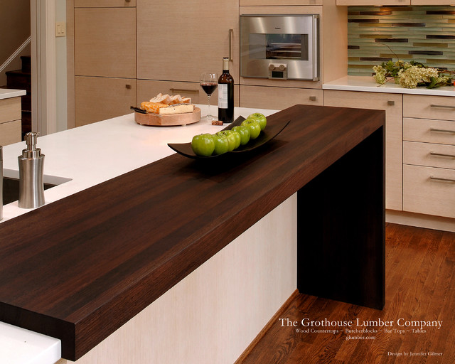 Contemporary Wenge Dark Wood Countertop By Grothouse Contemporary Kitchen Countertops