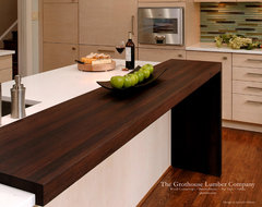 Contemporary Wenge Dark Wood Countertop by Grothouse contemporary-kitchen-countertops