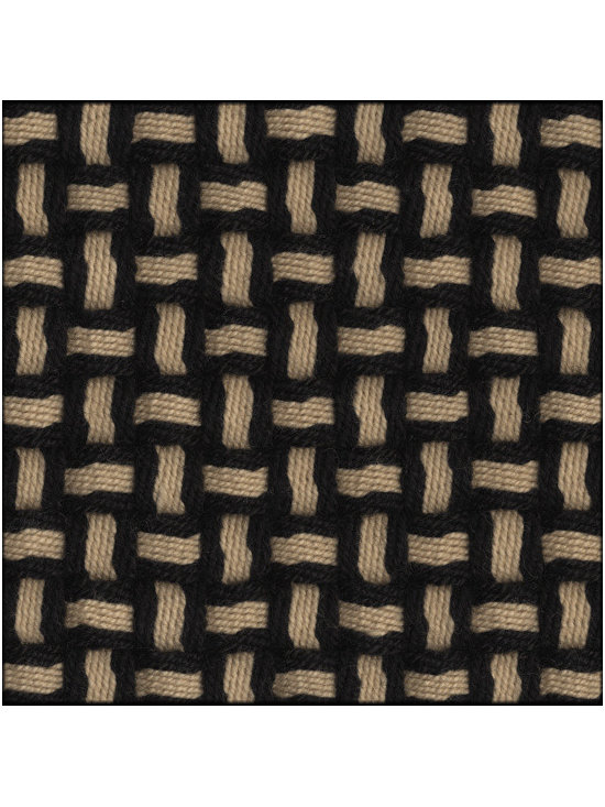 Natural Fiber Rugs & Carpets - Our Barbara Black Fawn semi-worsted wool rug is self bound all around. It is offered in any size.  All rugs are made to order.  Please allow 12 - 16 weeks for delivery.  Purchase at Hemphill's Rugs & Carpets Orange County, California www.RugsAndCarpets.com