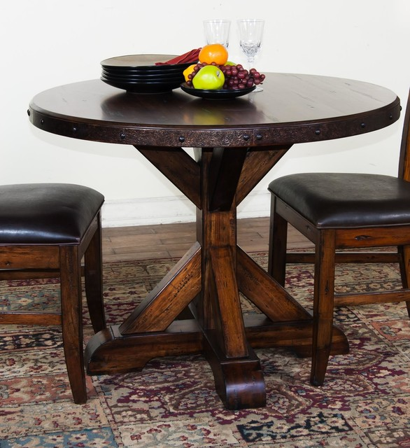 sunny designs crosswinds 42 round dining table
