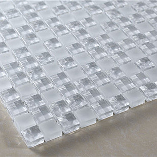 White transparent scrub ice crystals stereo water ripple glass mosaic ...