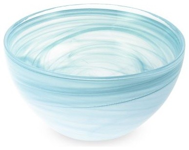 Turkish Swirl Glass Serving Bowls mediterranean serveware