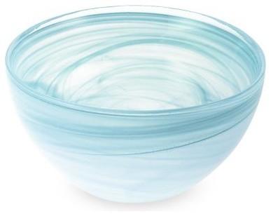 Turkish Swirl Glass Serving Bowls mediterranean-serving-bowls