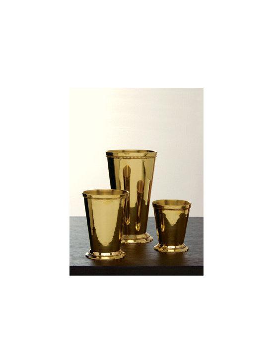 Polished Brass Julep Cups -
