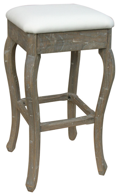 Coastal Style Backless Bar Stool Riverwash Farmhouse