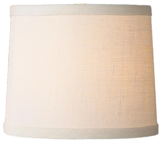 10 inch white burlap drum shade lamp shades by shades. Black Bedroom Furniture Sets. Home Design Ideas