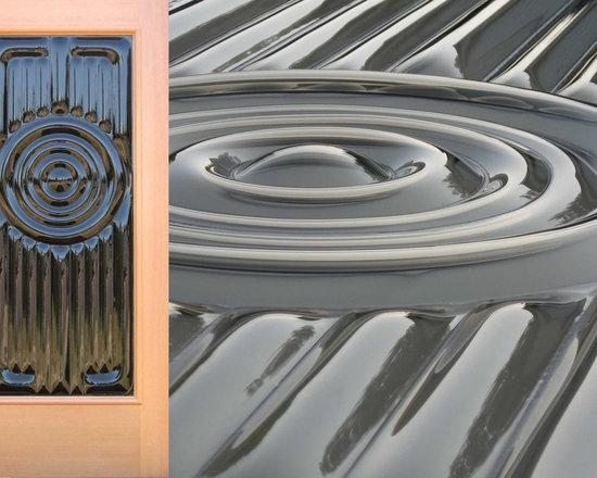 """Sculptural Glass Doors - """"Ohm"""" Front Door from Sculptural Glass Doors -"""