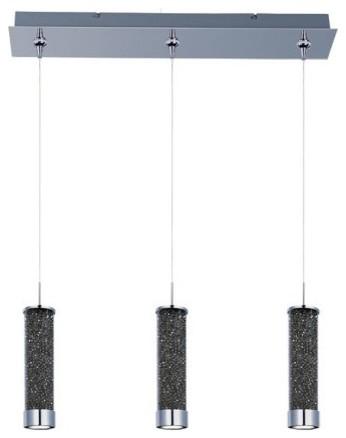 E94850-138PC Chroma 3-Light LED RapidJack Linear Suspension lighting