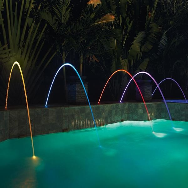 Pentair MagicStream Laminar lED Gray Lid Water Feature contemporary-swimming-pools-and-spas