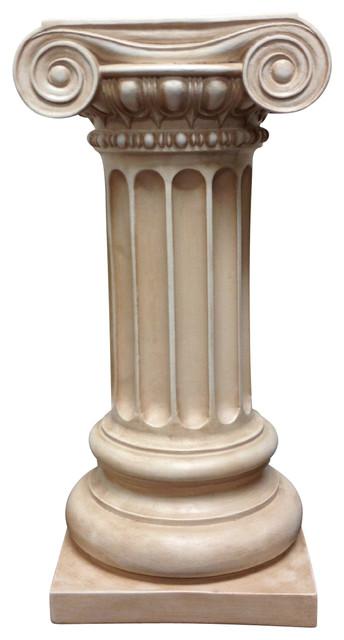 Classic Greek Ionic Pillar with Platform Pedestal Column  : traditional capitals and posts from www.houzz.com size 344 x 640 jpeg 43kB