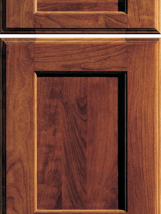 """Dura Supreme Cabinetry - Dura Supreme Cabinetry Monterey Cabinet Door Style - Dura Supreme Cabinetry """"Monterey"""" cabinet door style in Cherry shown with Dura Supreme's """"Mission"""" finish."""