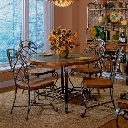 Riverside Harmony Round Dining Table And 4 Chairs Contemporary Dining Tab