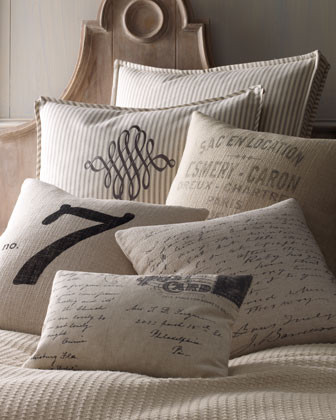 French Laundry Home Vintage Letter Pillow traditional-decorative-pillows