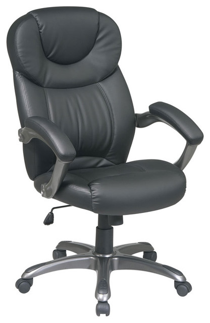 Black Executive Eco Leather Office Chair modern-office-chairs