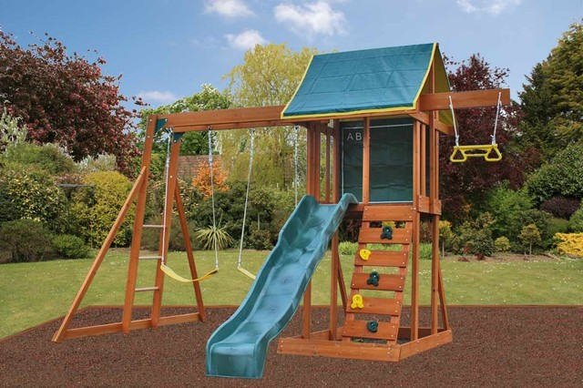 meadowside climbing frame modern garden playhouses. Black Bedroom Furniture Sets. Home Design Ideas