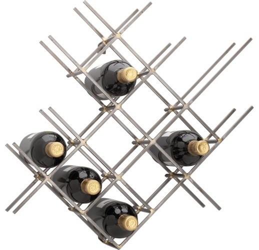 V line Wine Rack Modern Racks By CB2