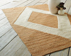 Applique Jute Rug, Natural/Ivory modern rugs