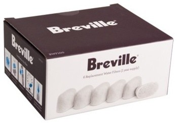 Breville Water Charcoal Filters - Set of 6 traditional-coffee-and-tea-makers