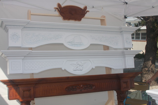 Floating Mantel Shelves Indoor Fireplaces New York