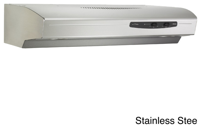 Broan QS130 Allure Series 30-inch 220 CFM Under Cabinet Hood - Contemporary - Range Hoods And ...