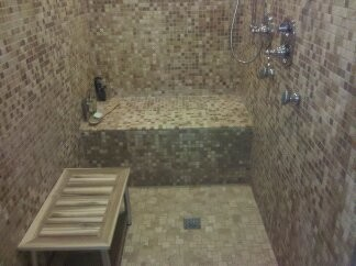 Chicken Coop to Poolhouse Remodel traditional-bathroom