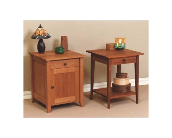 PRAIRIE NIGHT STANDS - This bedroom collection rivals the simple, timeless, elegant qualities of authentic shaker furnishings. Gentle tapered legs and feet, smooth surfaces, and solid hardwood construction make this collection one that fits well with traditional and contemporary styles.