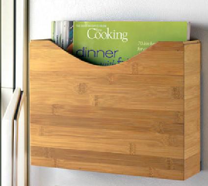 Magnetic Bamboo File Box contemporary-desk-accessories